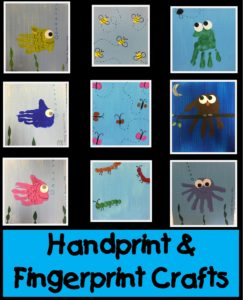 Handprint and Fingerprint Crafts